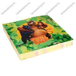 Szalvéta, Jungle Book, 3 rétegű, 33x33 cm, 1 db