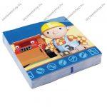 Szalvéta, Bob the Builder, 3 rétegű, 33x33 cm, 1 db