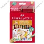 Faber-Castell jumbo mintás színes ceruza, 12 szín + hegyező
