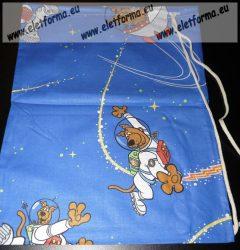 Scooby Doo pamutvászon sportzsák/tornazsák, kék űr - Naturtex