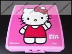 Tupperware uzsonnás doboz, Nagy, Hello Kitty Pink (14x12,5x5 cm)