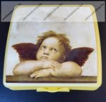 Tupperware uzsonnás doboz, Nagy, Angyalkás (14x12,5x5 cm)