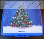 Tupperware uzsonnás doboz, Nagy, Karácsonyfás (14x12,5x5 cm)