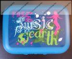 Tupperware uzsonnás doboz, Közepes, Music (12,5x9,5x4,7 cm)