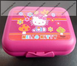 Tupperware uzsonnás doboz, Közepes, Hello Kitty gombás (12,5x9,5x4,7 cm)