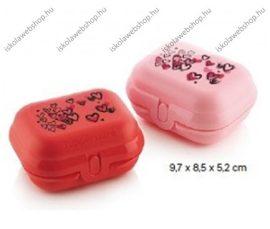 Tupperware uzsonnás doboz, Kicsi, Valentin napi szett (9,7x8,5x5,2 cm)