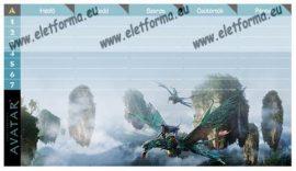Avatar órarend kétoldalas (19x11 cm) - Ars Una