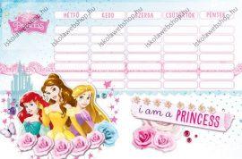 Hercegnős/Princess nagy órarend