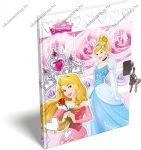 A6 Hercegnős/Princess emlékkönyv lakattal (kulcsos)