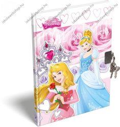 Keményfedeles emlékkönyv kulccsal és lakattal, Hercegnős/Princess (A6)