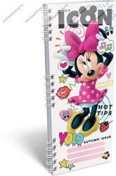 Spirál szótárfüzet, Minnie Mouse