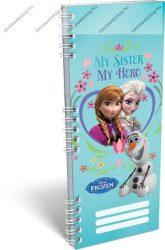 Spirál szótárfüzet, Frozen/Jégvarázs