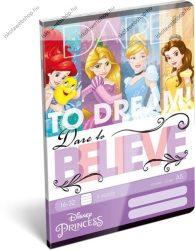 Hercegnős/Princess Dream 2. osztályos vonalas füzet, A5/16-32