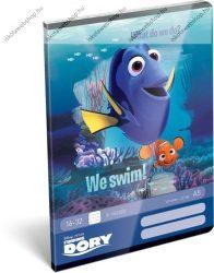 Némó/Finding Dory/Szenilla nyomában We Swim! 2. osztályos vonalas füzet, A5/16-32