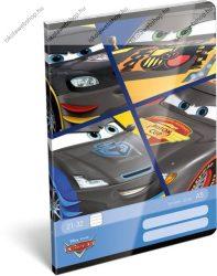 Cars/Verdák Black felsős vonalas füzet A5
