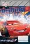 Cars/Verdák Drifting felsős vonalas füzet A5
