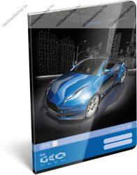 Geo Kék autós A4 kockás füzet