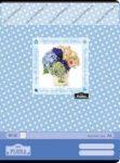 Geo Kék virágos A4 kockás füzet