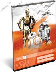 Star Wars 3 robot 2. osztályos vonalas füzet, A5/16-32