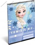 Frozen/Jégvarázs - You make me smile felsős vonalas füzet A5