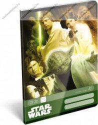 Star Wars Green felsős vonalas füzet A5