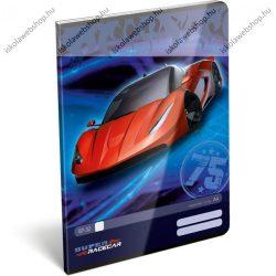 Geo Piros autós A4 kockás füzet