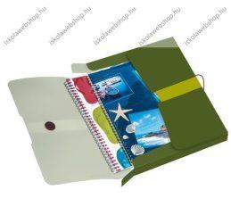 Füzetbox PP, easy orga to go, zöld, A4